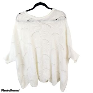 Cream Lightweight Knit Oversized Sweater - O/S